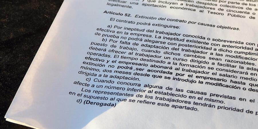 La derogación del artículo 52 del Estatuto de los Trabajadores
